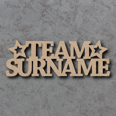 Team Surname Craft Sign - Personalised