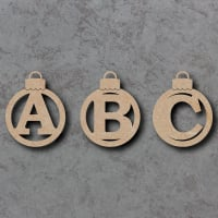 Traditional Letter Baubles