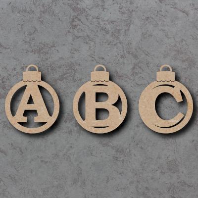 Bauble Letter Craft Shapes