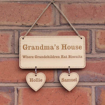 Personalised Grandchildren Sign