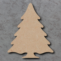 Snowy Christmas Tree Blank Craft Shapes