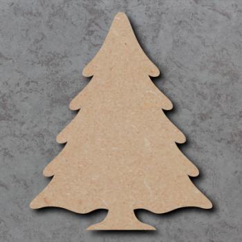 Snowy Christmas Tree Blank Craft Shapes