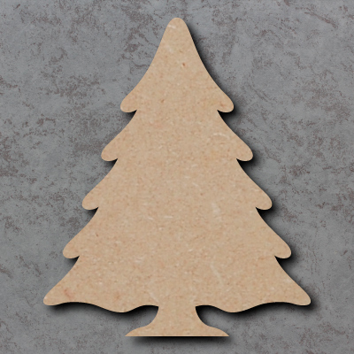 Snowy Christmas Tree Craft Shapes