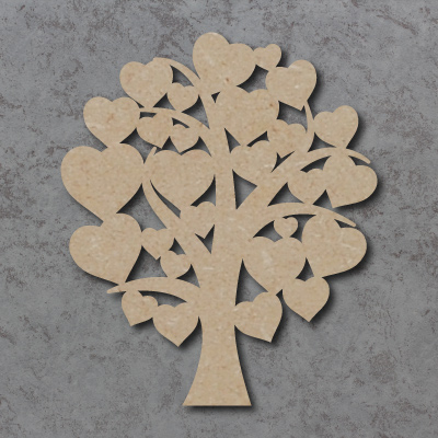 Tree - Round Top Hearts Craft Shapes