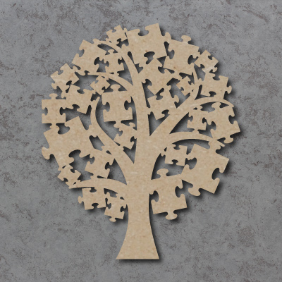 Tree - Round Top Jigsaws Craft Shapes