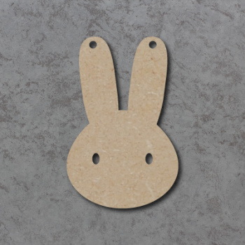 Bunny Head Bunting mdf Shapes
