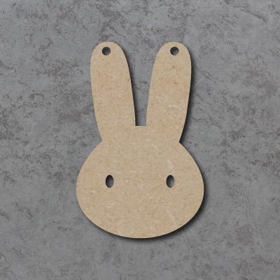 Bunny Head Bunting mdf Shapes