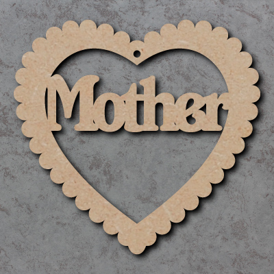 MDF Mothers Day Hearts - Mum, Mummy, Nan, Grandma