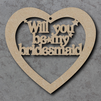 Will You Be My Bridesmaid Craft Heart