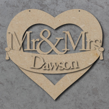 Personalised Mr & Mrs Wedding Banner Sign