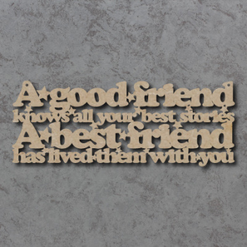 A Good Friend Knows All Your Best Stories Sign