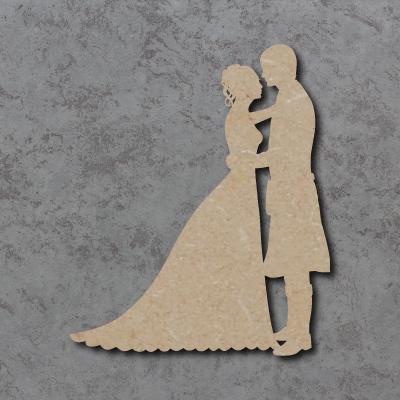 Wedding Couple A (With Kilt) Craft Shapes