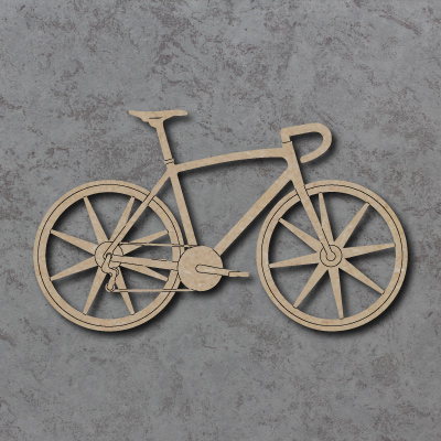Road Race Bicycle Craft Shapes