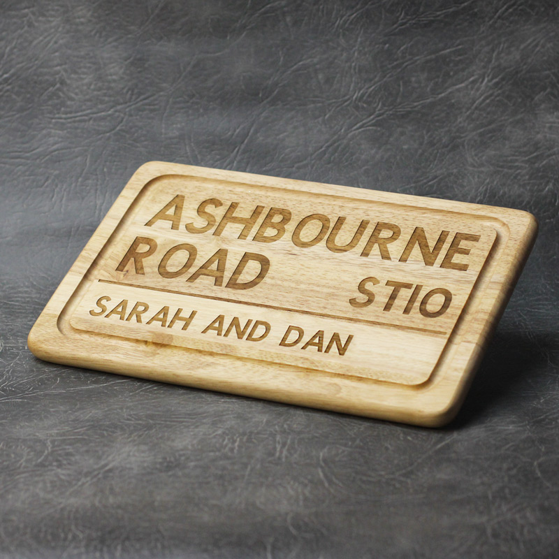 Personalised Road Sign Chopping Board
