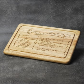 Recipe For A Happy Marriage Chopping Board