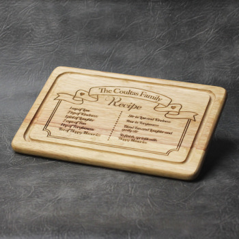 Personalised Family Recipe Chopping Board