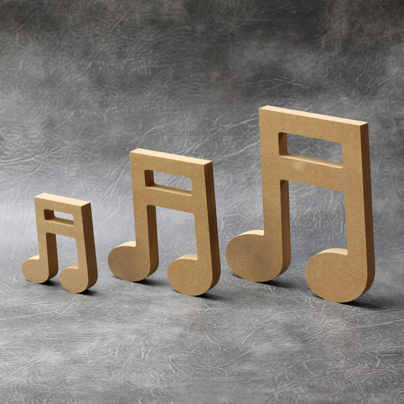 Music Notes (Double) Craft Shapes 18mm Thick