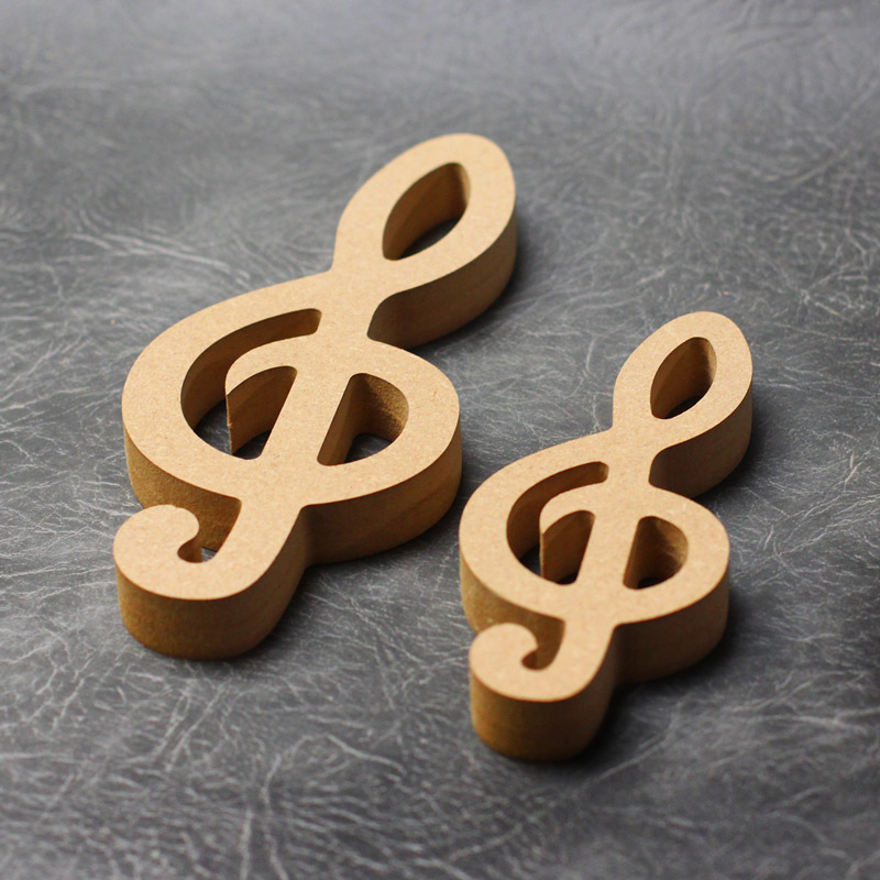 Music Notes (Double Clef) Craft Shapes 18mm Thick