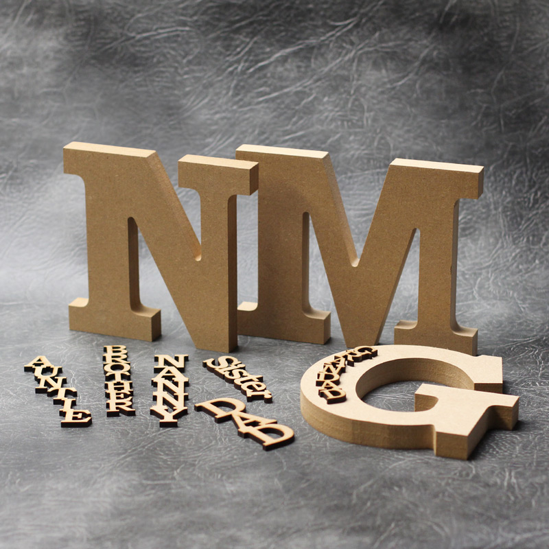 Personalised Freestanding Letter & Word - 18mm Thick