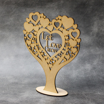 Freestanding Let Love Grow Heart Tree