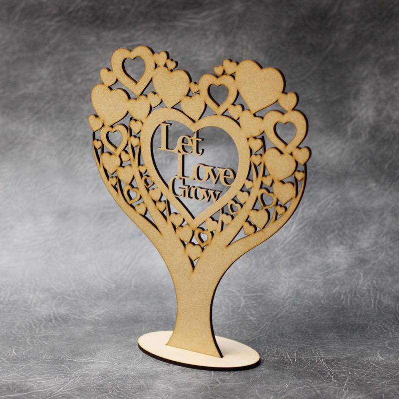 Freestanding Let Love Grow Heart Tree