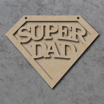 Super Dad Emblem Sign