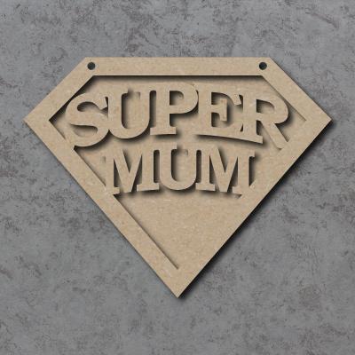 Super Mum Emblem Sign