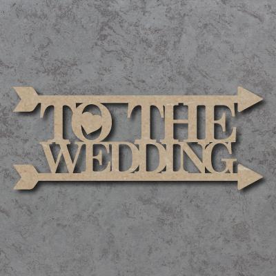 The The Wedding Arrow Sign