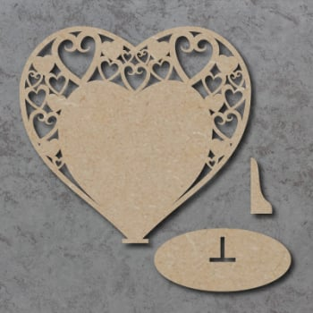 Plaque 07 - Swirly Hearts - Freestanding