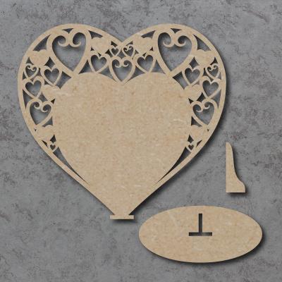 Plaque 07 - Swirly Hearts - Freestanding
