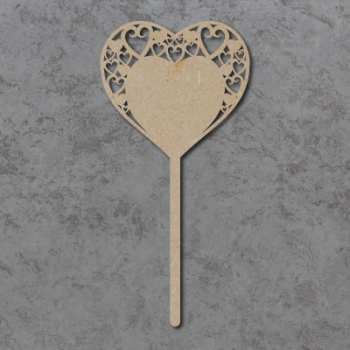 Swirly Hearts Wedding Table Sticks