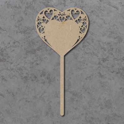 Swirly Hearts Wedding Table Sticks