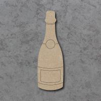 Champagne Bottle Detailed Craft Shapes