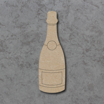 Champagne Bottle Detailed Craft Shapes