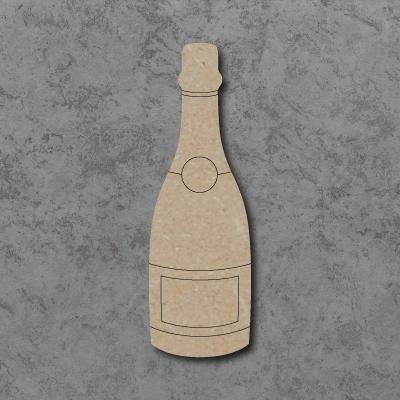 Champagne Bottle Craft Shapes