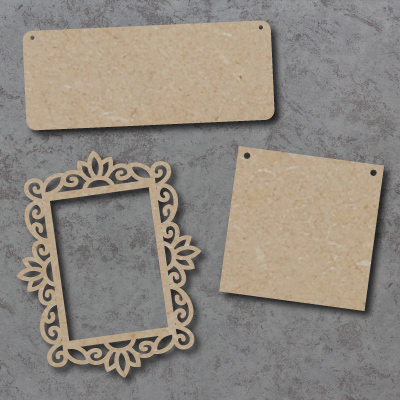 Blank Signs, Plaques and Photo Frames