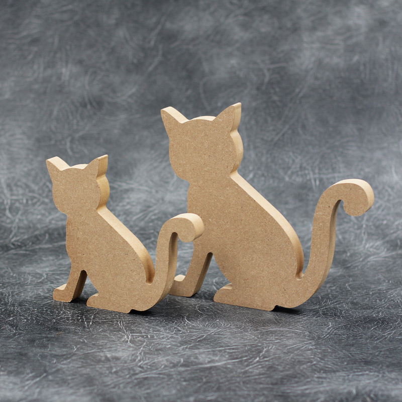 Cat 18mm Thick Wooden Craft Shapes