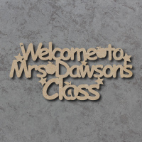 """Welcome to """"Teacher's"""" Class - Personalised Sign"""