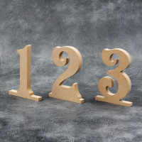 Freestanding Wedding Table Numbers (Victorian font) 18mm Thick