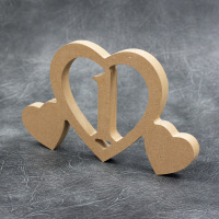 Freestanding Wedding Table Numbers With Hearts 18mm Thick