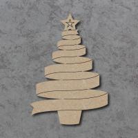 Ribbon Christmas Tree Detailed Craft Shapes
