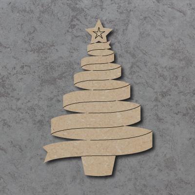 Ribbon Christmas Tree Craft Shapes