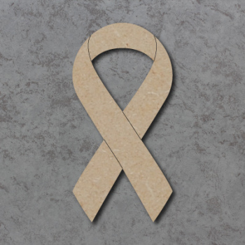 Cancer Ribbon Craft Shape