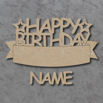 Personalised Happy Birthday Banner Sign