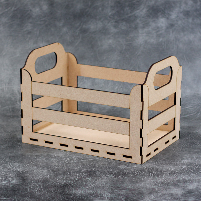 Wooden storage crate craft kit for Craft crates