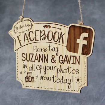 If You Use Facebook Personalised Wedding Plaque