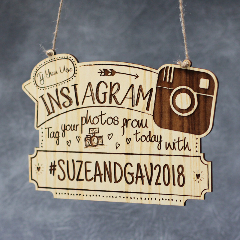 If You Use Instagram Personalised Wedding Plaque