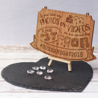 Share Your Photos And Videos Wedding Plaque