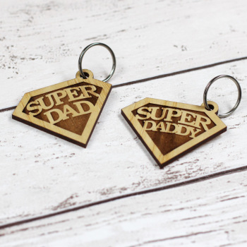 Super Dad / Daddy Emblem Keyring