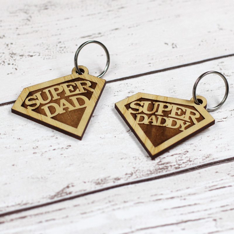 Super Dad / Daddy Emblem Keyring